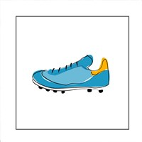 Blue Cleat Fine-Art Print