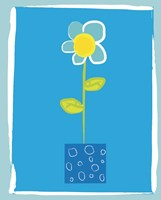 Blue Flower in Blue Pot Fine-Art Print