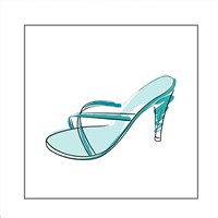 Blue High Heel Sandal Fine-Art Print