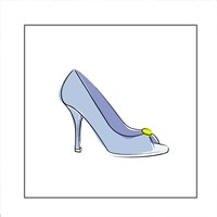 Blue High Heel Shoe Fine-Art Print