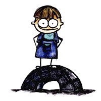 Boy on Tire Fine-Art Print