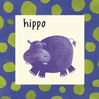 Hippo with Border Fine-Art Print
