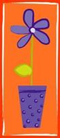Purple Flower in Purple Pot Fine-Art Print