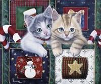 Christmas Calendar Kittens Fine-Art Print