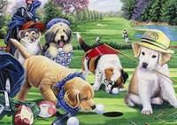 Golfing Puppies Fine-Art Print