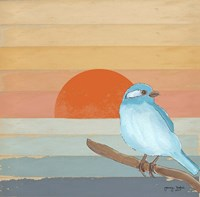 Blue Bird By Water Fine-Art Print
