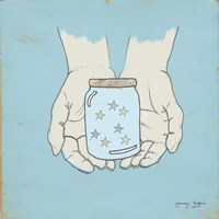Jar Of Wishes Blue Fine-Art Print