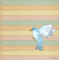 Flying Blue Bird Fine-Art Print