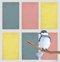 Rectangles And Blue Bird Fine-Art Print