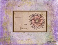 F is For Flower Fine-Art Print