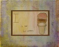 I is For Ice Cream Fine-Art Print