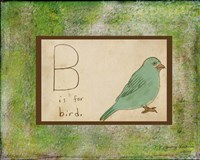B is For Bird Fine-Art Print