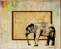 E is For Elephant Fine-Art Print