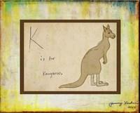 K is For Kangaroo Fine-Art Print