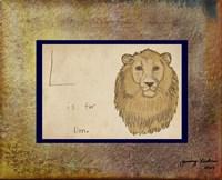 L is For Lion Fine-Art Print