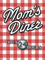 Moms Diner Red Checkered Fine-Art Print