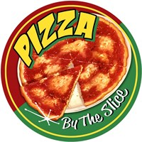 Pizza By Slice Round Fine-Art Print