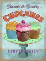 Cupcakes Retro Fresh Fine-Art Print