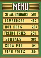Green Burger Joint Menu Fine-Art Print