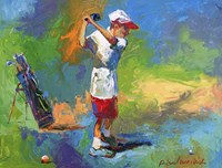 Kid Golf Fine-Art Print