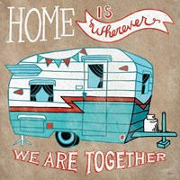 Adventure Love Camper Taupe Fine-Art Print