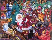 Santa Arrives Fine-Art Print