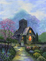 Irish Church & Garden Fine-Art Print