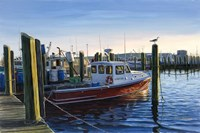 Red Boat At Galilee Fine-Art Print