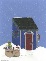 Blue Outhouse Fine-Art Print