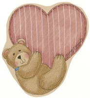 Bear Hanging From Heart Fine-Art Print