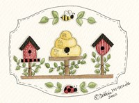 Beehive With Birdhouse Fine-Art Print