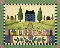 Blue House With Quilts Fine-Art Print