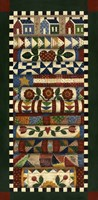 Stack Of Quilts With Dark Green Border 2 Fine-Art Print