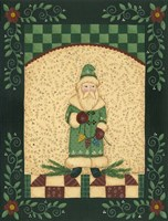 Green Antique Santa Fine-Art Print