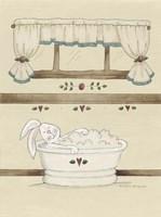 One Bunny In Tub Fine-Art Print