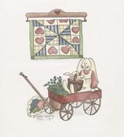 Bunny In Wagon Fine-Art Print