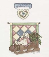 Sled Bunny Fine-Art Print