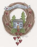 Sweet Home Wreath Fine-Art Print