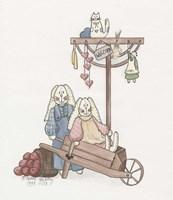 Wheelbarrow Bunnies Fine-Art Print