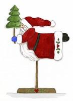 Santa On A Stick Fine-Art Print