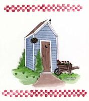Outhouse With Wheelbarrow Fine-Art Print