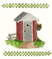 Brick Outhouse Fine-Art Print