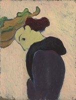 Women Seen in Profile with a Green Hat, c.  1890-189 Fine-Art Print