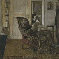 Thadee Natanson, Ker-Xavier Roussel and Vuillard's Reflection in the Mirror, 1907-1908 Fine-Art Print