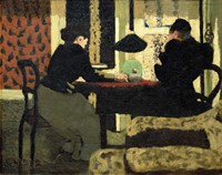 Two Women Under a Lamp, 1892 Fine-Art Print