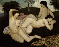 After the Bath, Three Nymphs 1908 Fine-Art Print