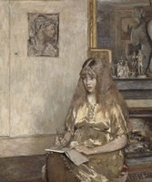 Portrait of Genevieve Bernheim de Villers (1907-1936) Fine-Art Print