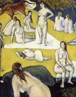 Bathers with a Red cow, 1887 Fine-Art Print