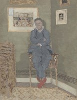 Portrait of Felix Vallotton (1865-1925) Fine-Art Print