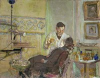 Dr Georges Viau in his Dental Office, Attending Annette Roussel, 1914 Fine-Art Print